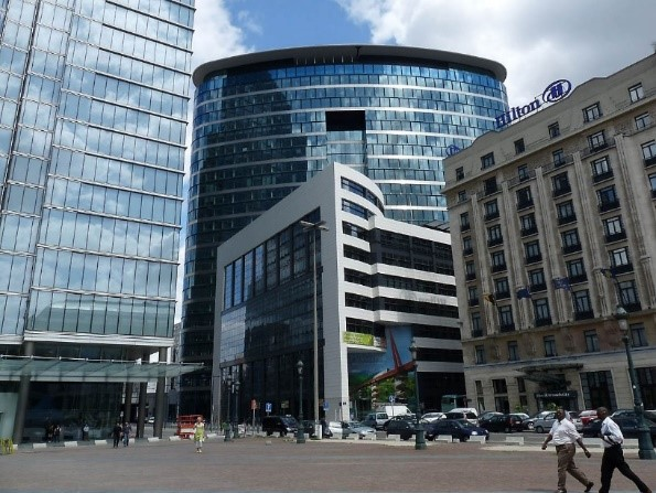 EC Research Executive Agency offices in Brussels where the Defend project review took place